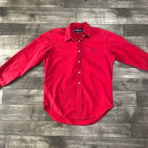 Bright red Polo Ralph Lauren Button Up Classic